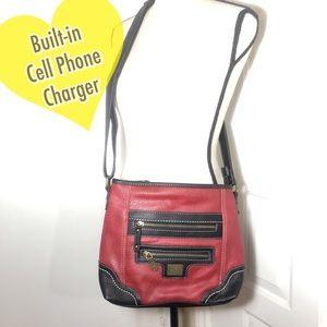 "B.O.C. Crossbody ""The Phone Charging Handbag!"""